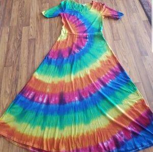 Lularoe Ana custom tie dye size 2XL